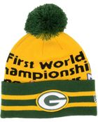 New Era Green Bay Packers Super Wide Point Knit Hat - Lyst