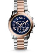 Michael Kors Cooper Two-Tone Stainless Steel Chronograph Bracelet Watch - Lyst