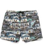 Paul Smith Printed Shortlength Swim Shorts - Lyst