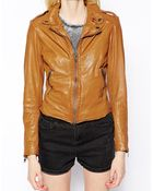 Muubaa Sabi Leather Biker Jacket - Lyst