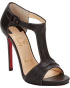 Christian Louboutin In My City Tstrap Sandals - Lyst