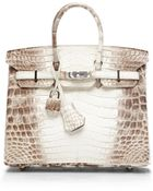 Heritage Auctions Special Collection Himalayan Matte Nilo Crocodile 25Cm Hermes Birkin Bag - Lyst