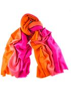 Black.co.uk Dégradé Pink To Orange Shaded Pashmina Shawl - 100% Cashmere - Lyst
