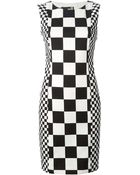 Love Moschino Checked Dress - Lyst