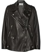 Acne Studios Swift Light Oversized Leather Biker Jacket - Lyst