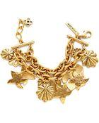 Oscar de la Renta Seashell Bracelet - Russian Gold - Lyst