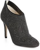Jimmy Choo Mendez Studded Suede Booties - Lyst