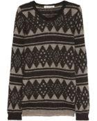 Etoile Isabel Marant Falk Intarsia Mohair-Blend Sweater - Lyst
