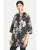MSGM Floral Print Cotton Coat - Lyst