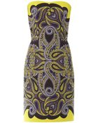 Lanvin Paisleyprint Technomesh Dress - Lyst