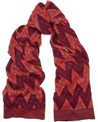Missoni Metallic Chevron-Knit Wool-Blend Scarf - Lyst