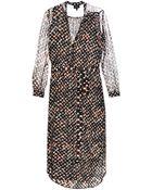 Saloni Molly Boa-print Shirt Dress - Lyst