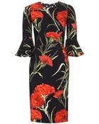 Dolce & Gabbana Crepe Dress - Lyst