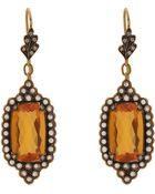 Cathy Waterman Fire Opal & Diamond Scalloped-Edge Drop Earrings - Lyst