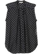 Rebecca Taylor Dotty Print Sheer Top - Lyst