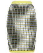 Topshop Geo Textured Skirt - Lyst