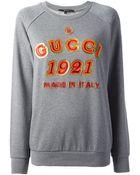 Gucci Branded Sweatshirt - Lyst