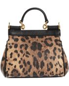 Dolce & Gabbana Leopard Print Micro Miss Sicily Bag - Lyst