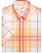 Brooks Brothers Plaid Short-Sleeve Button-Down Shirt - Lyst