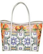 Dolce & Gabbana Borsa Donna Maioliche Arancio - Lyst