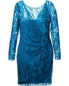 Emilio Pucci Lace Ruffle Dress - Lyst