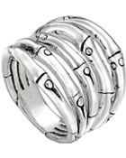 John Hardy Bamboo Silver Wide Ring 18mm - Lyst