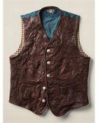 Ralph Lauren Leather Mccabe Vest - Lyst