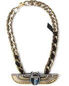 Lanvin Winged Beetle Necklace - Lyst