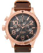 Nixon '48-20 Chrono Leather' Watch - Lyst