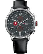 Tommy Hilfiger Men'S Classic Black Leather Strap Watch - Lyst