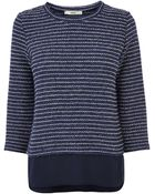Oasis Cut And Sew Stripe Knit Top - Lyst