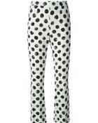 Dolce & Gabbana Large Polka Dot Print Trousers - Lyst