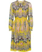 MSGM Printed Silk-Chiffon Dress - Lyst