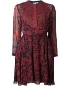 Carven Printed Lace Panel Dress - Lyst