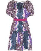 Peter Pilotto Printed Silk Dress - Lyst