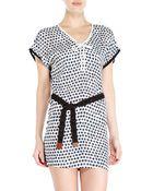 Alysi Belted Polka Dot Dress - Lyst