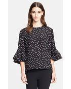 Dolce & Gabbana Polka Dot Silk Blouse - Lyst