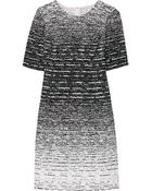 Oscar de la Renta Dégradé Tweed Dress - Lyst
