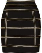 Balmain Embellished Stretch Knit Skirt - Lyst
