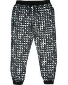 River Island Black Jaded Stud Printed Joggers - Lyst
