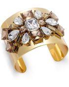Kate Spade Gold-Tone Crystal Cluster Cuff Bracelet - Lyst