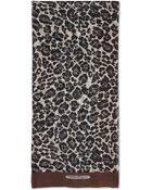 Ferragamo Large Leopard Print Shawl - Lyst