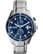 Fossil Mens Chronograph Wakefield Stainless Steel Bracelet Watch 45mm - Lyst