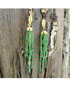 Nregnier Lotus Filgree Earrings - Lyst