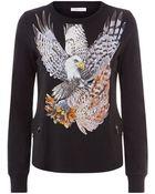 Balmain Eagle Print Cotton Sweater - Lyst