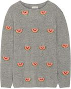 Chinti & Parker Watermelon-Intarsia Cashmere Sweater - Lyst