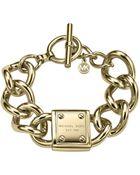 Michael Kors Logo-Plaque Link Bracelet - Lyst