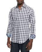 Robert Graham Cutter Houndstooth Plaid Sport Shirt - Lyst