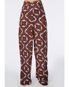 Missguided Paisley Print Wide Leg Trousers - Lyst