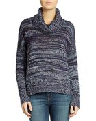 DKNY Cowl Neck Pullover Sweater - Lyst